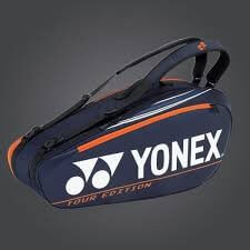 YONEX - NEW PRO RACKET BAG 92026EX (6PCS) - DARK NAVY / ORANGE