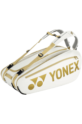 YONEX - NEW PRO RACKET BAG 02NNOEX (9PCS) - WHITE / GOLD